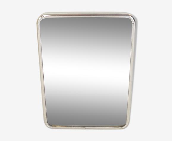 Miroir de barbier en metal a poser vintage 20 X 14, 5 cm