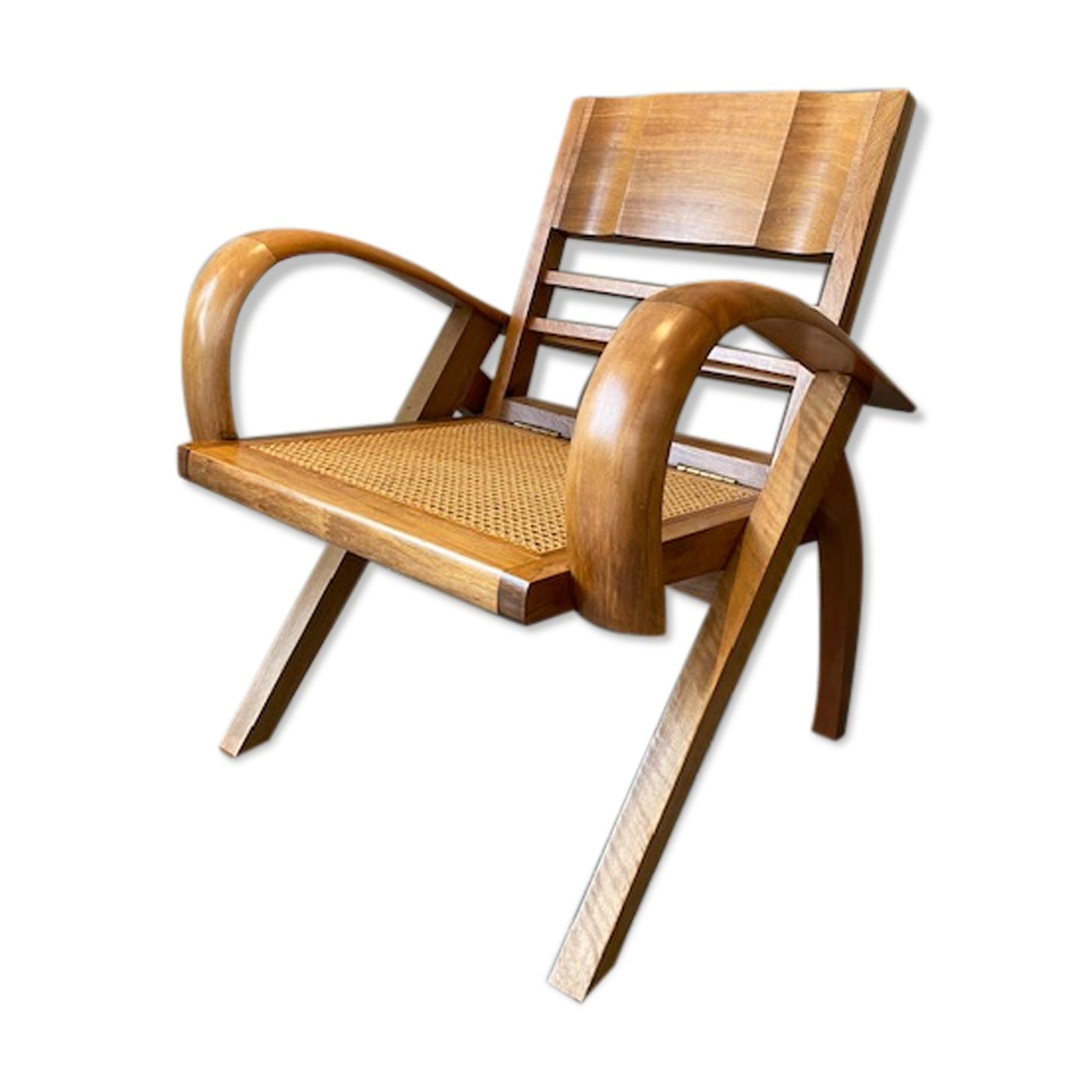 Fauteuil design bois courbé