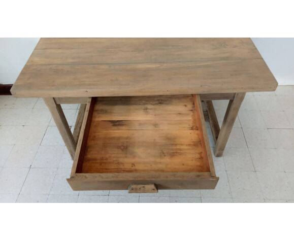 Table de ferme ou d'atelier en chêne