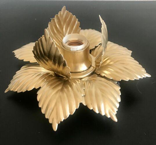 Applique fleur dorée