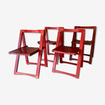 Ensemble de 4 chaises pliantes