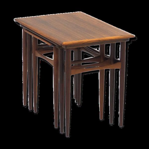 Ensemble tables gigognes en palisandre Arne Hovmand Olsen