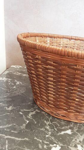 Corbeille en osier à pain ou autre vintage