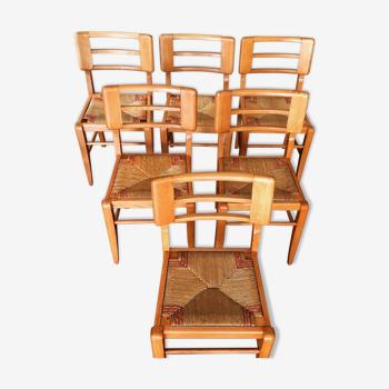 Serie de 6 chaises modernistes