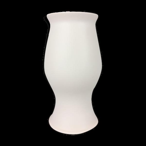 Vase de Franco Pozzi blanc céramique vintage 1970