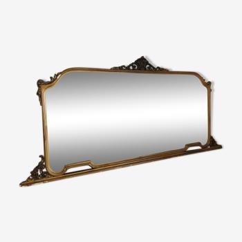 Miroir ancien en stuc doré - 95x200cm