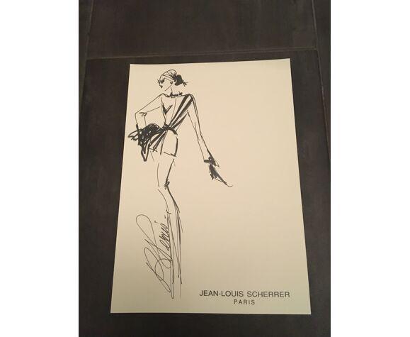 Jean-Louis Scherrer: illustration de mode & photographie de presse vintage