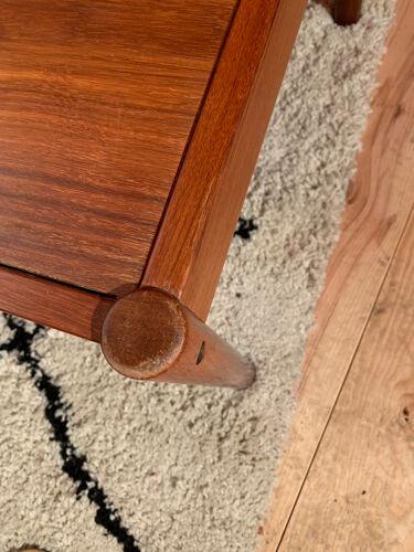 Table basse scandinave vintage teck palissandre de Rio Michel Arnoult