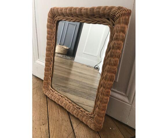 Miroir en osier 32x37cm