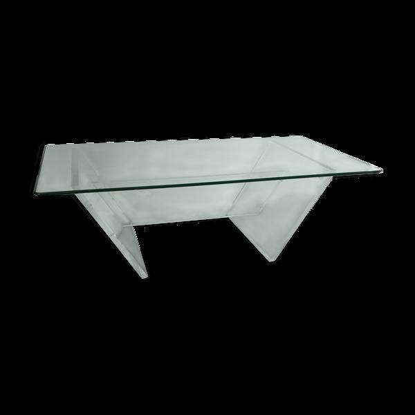 Selency Table basse Marais international plexi et verre