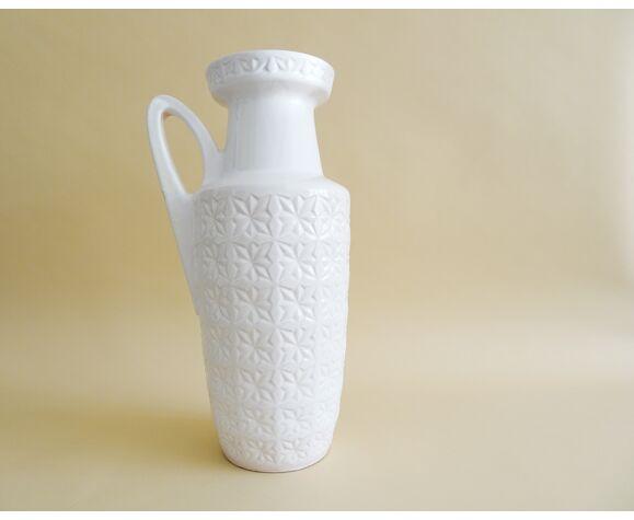 Scheurich Prisma vase de sol blanc avec poignée