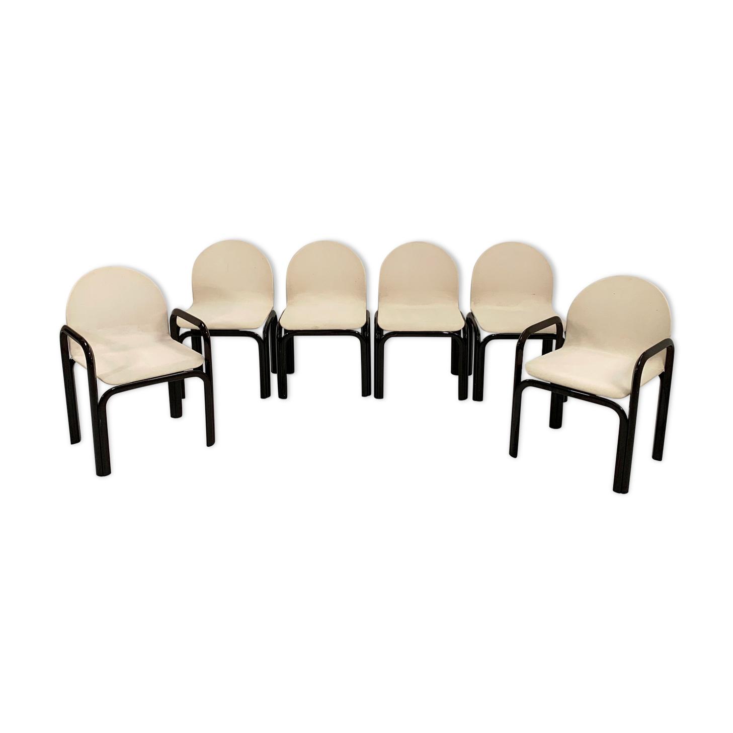 Set de 6 chaises Orsay par Gae Aulenti pour Knoll, 1970