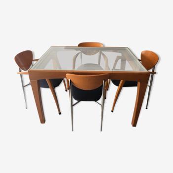 Table extensible et ses 4 chaises