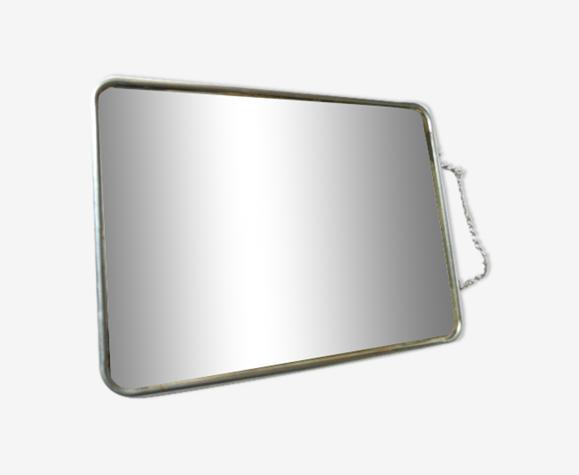 Miroir de barbier avec chaînette 24x18cm