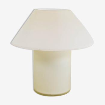 Lampe champignon vintage Hala Zeist verre blanc années 80