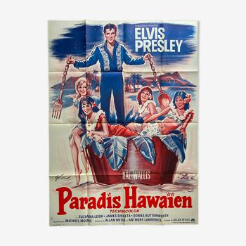 """Affiche cinéma """"Paradis Hawaïen"""" Elvis Presley 120x160cm 1970"""