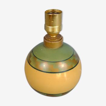 Pied de lampe Art déco en bois peint, années 1920/30