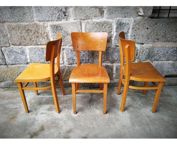 Série de trois chaises bistrot