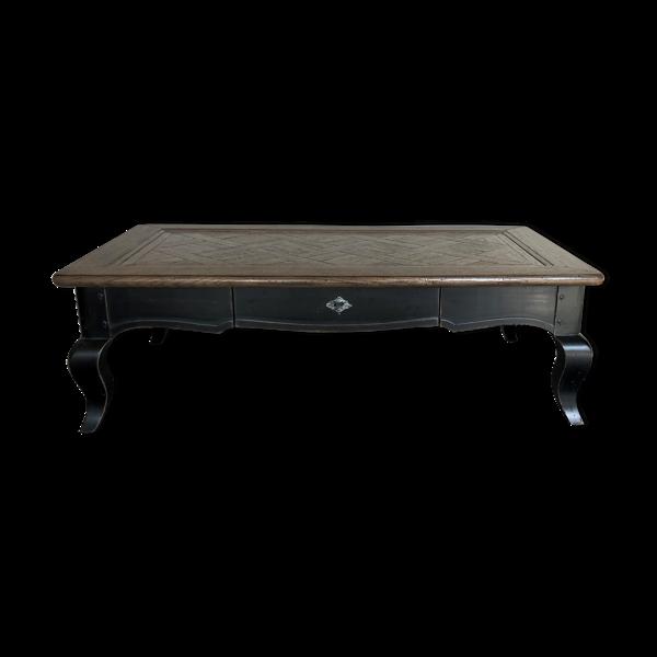 Selency Table basse Louis XV en chêne