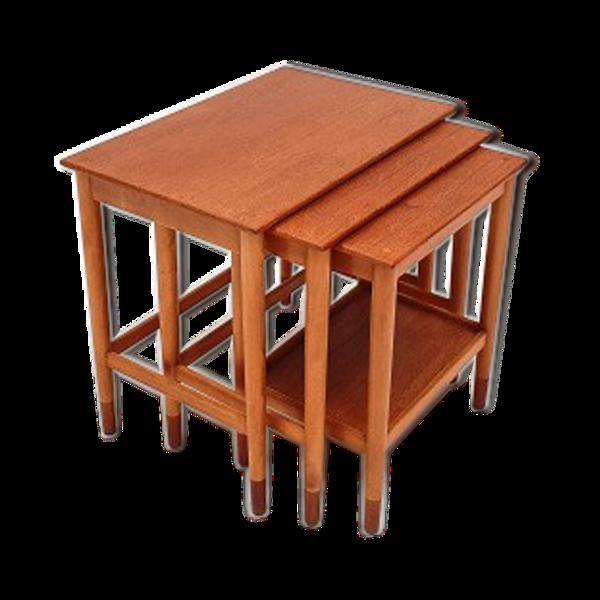 Tables gigognes par Børge Mogensen pour Søborg Møbelfabrik Danemark, 1960