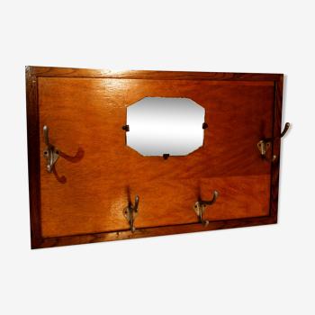 Porte manteau miroir bois ancien