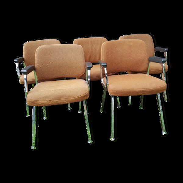 Selency Série de 5 fauteuils de Martin Stoll, pour Sedus, années 70