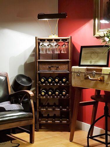 Vintage bar 75/80 years in rattan / wicker