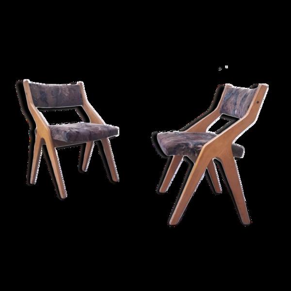 Selency Paire de fauteuils rétro