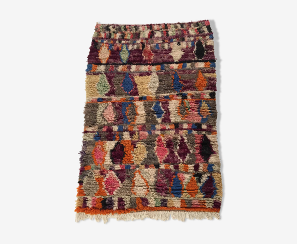 Tapis berbère marocain Boujaad à motifs colorés 145x98cm