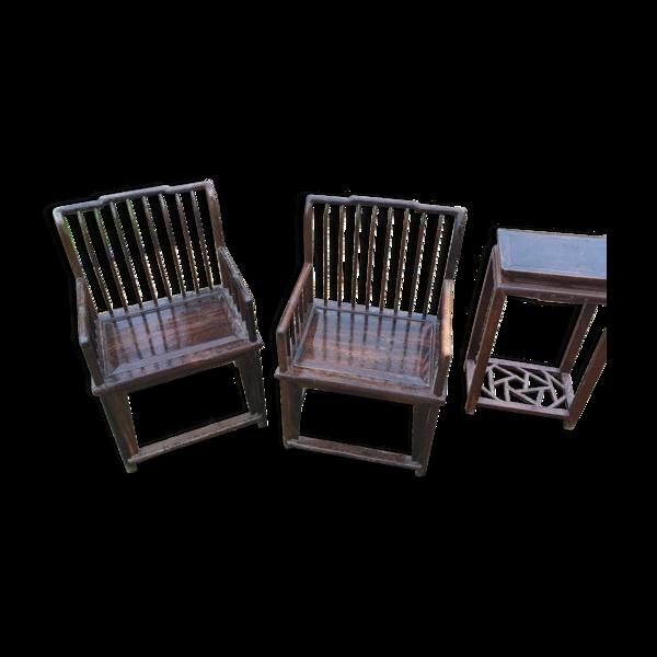 Selency Paire de fauteuil en palissandre