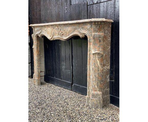 Cheminée Louis XV en marbre gris des ardennes