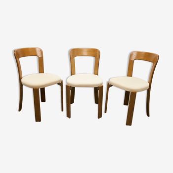 Set of 3 Bruno Rey chairs for Dietiker Basel 1970