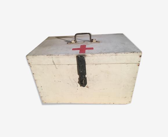 Boîte à pharmacie ou d'infirmiers en contreplaqué