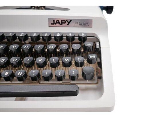 Machine à écrire Japy P 951 vintage révisée ruban neuf