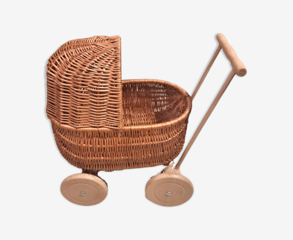 Wicker stroller, for doll