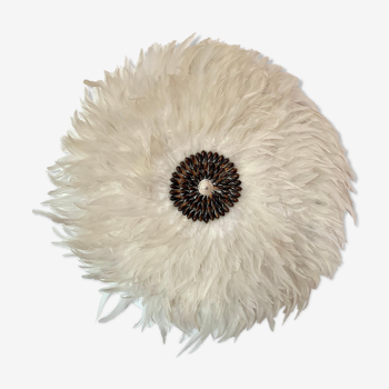 Juju hat blanc centre marron coquillage