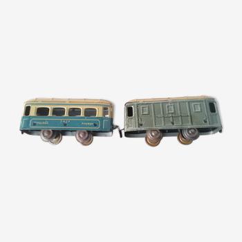 Set de 2 wagons JEP un passagers et un marchandises