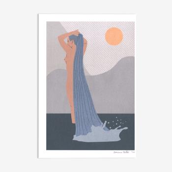 Tirage d'art , La cascade , 13x18 cm , impression édition limitée