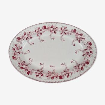 Large oval dish former Boch Brothers Keramis model Lucien stamped BFK