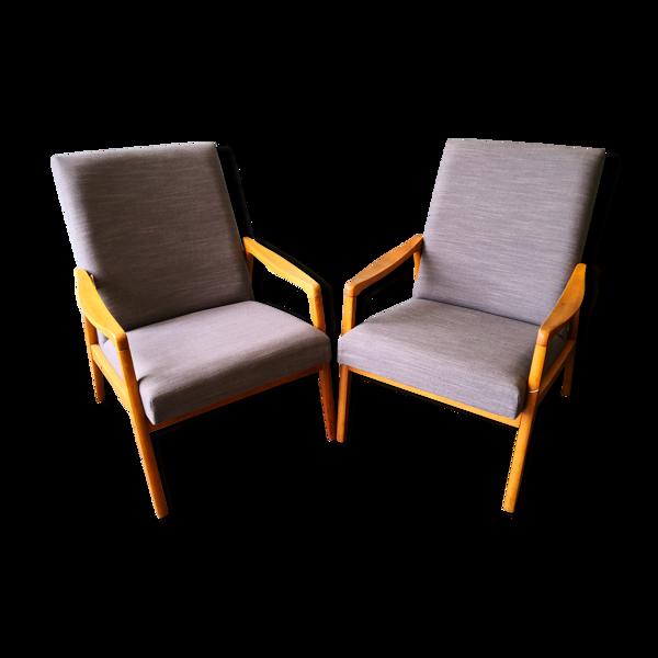 Paire de fauteuils Tchèque années 50/60
