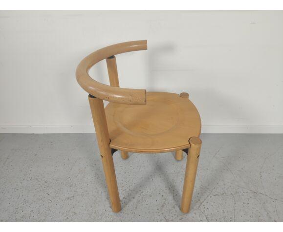 Set de 4 chaises en hêtre Lübke années 80