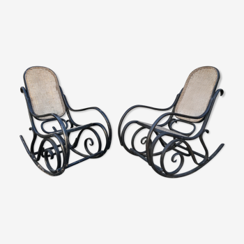 Paire de rocking-chair Thonet