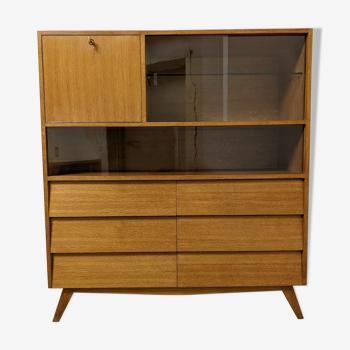 Meuble de rangement secrétaire bibliothèque vitrine des années 50/60