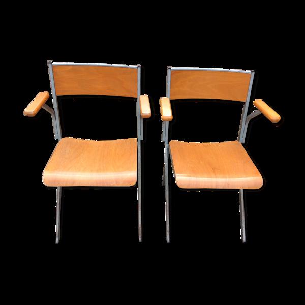 Duo de fauteuils de bureau