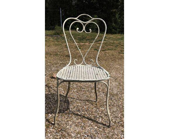 Chaise métal jardin terrasse