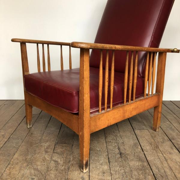 Fauteuil Morris vintage en bois
