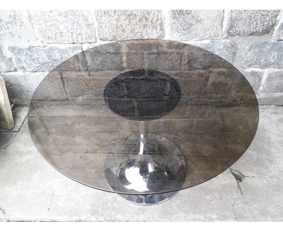 Table ronde pied tulipe vintage