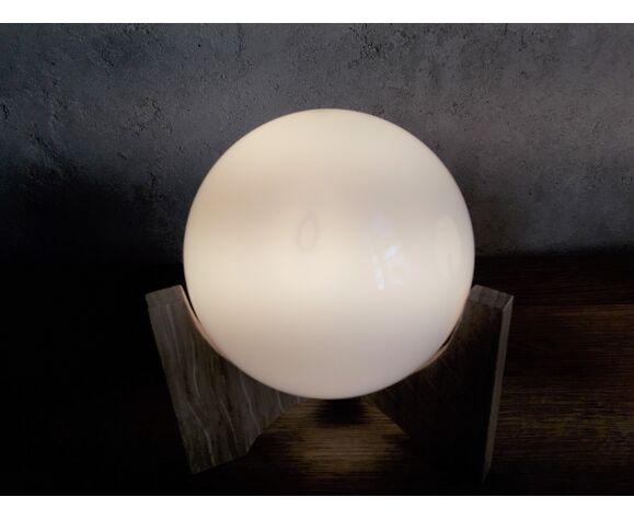 Paire de lampes de chevet en opaline