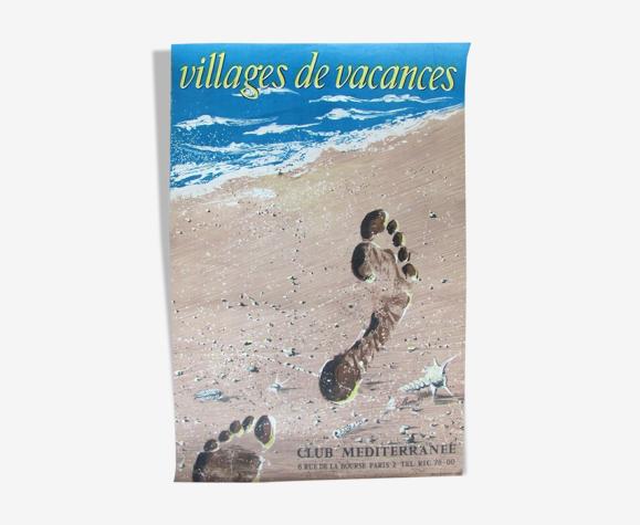 Affiche publicitaire Club Méditerranée circa 1960