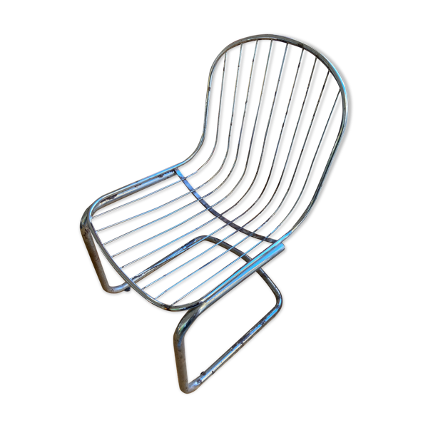 Chaise inox wire vintage 70